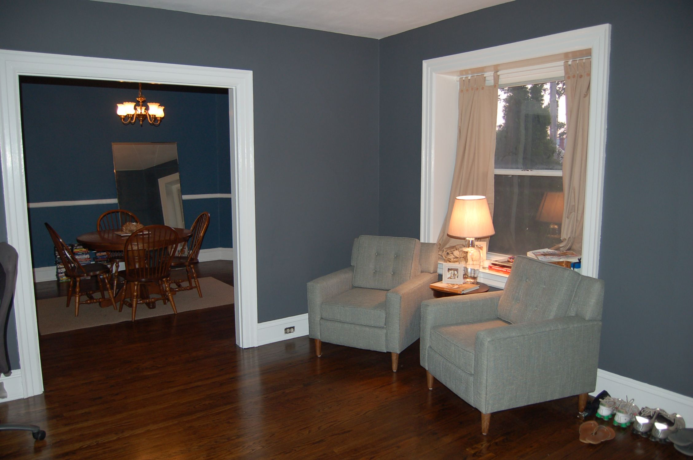 Fall the changing of colors a few times over interior - Paint colors for a dark living room ...
