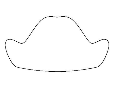 George Washington hat pattern. Use the printable outline for crafts ...