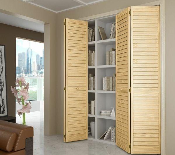 les portes de placard pliantes pour un rangement joli et moderne clairage dans l 39 air du temps. Black Bedroom Furniture Sets. Home Design Ideas