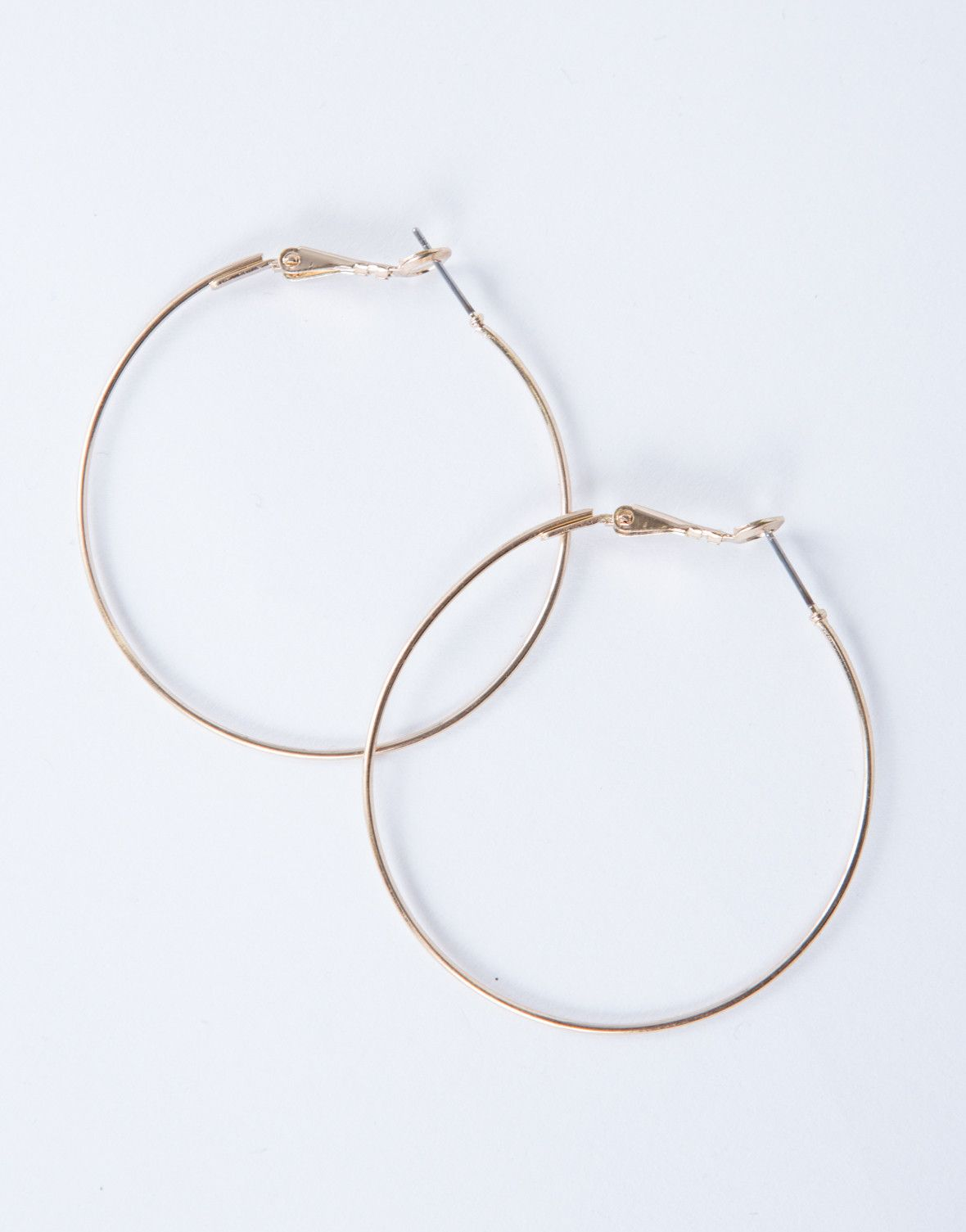 bc5a4bec0 Shiny Thin Hoop Earrings |