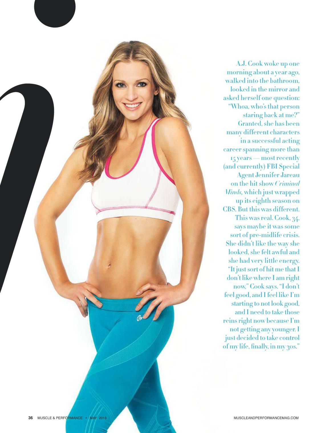 AJ Cook – Muscle and Performance Magazine -03