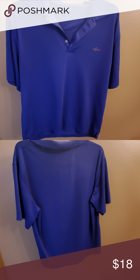 32b0b409eb6e Mens Greg Norman golf shirt Blue solid golf shirt. Great condition size  label worn off