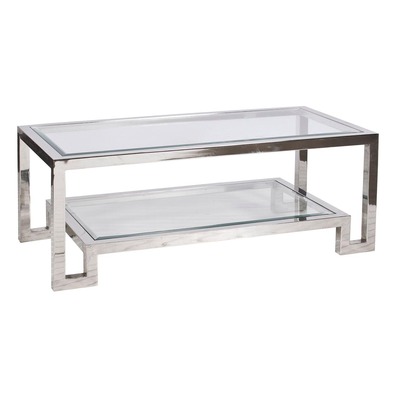 Worlds Away Winston Nickel Coffee Table Zinc Door Stainless Steel Coffee Table Steel Coffee Table Coffee Table