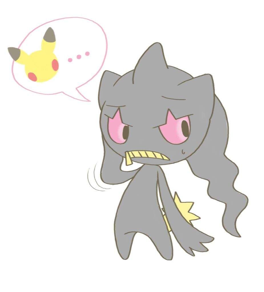 Mimikyu y banette pok mon en espa ol amino mimikyu banette pokemon mimikyu ghost type - Branette pokemon y ...