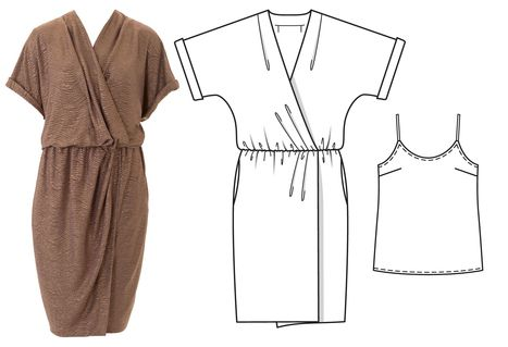 Cocoon Style dress. with modesty strappy top. Looks very comfy. 05/2016 / / Burdastyle