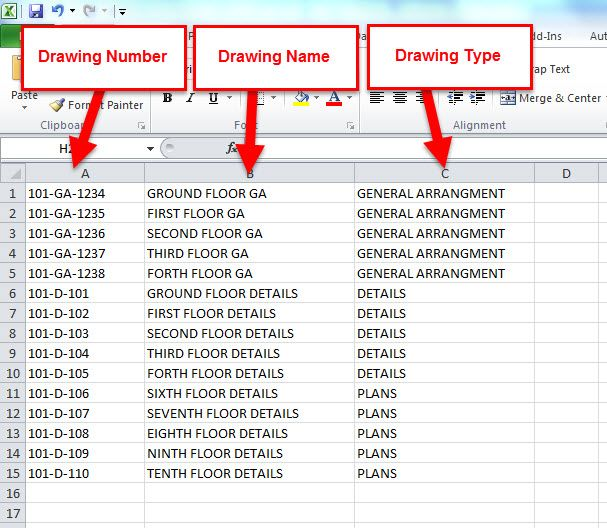 Autodesk Revit, Dynamo and Microsoft Excel for Drawing Sheet