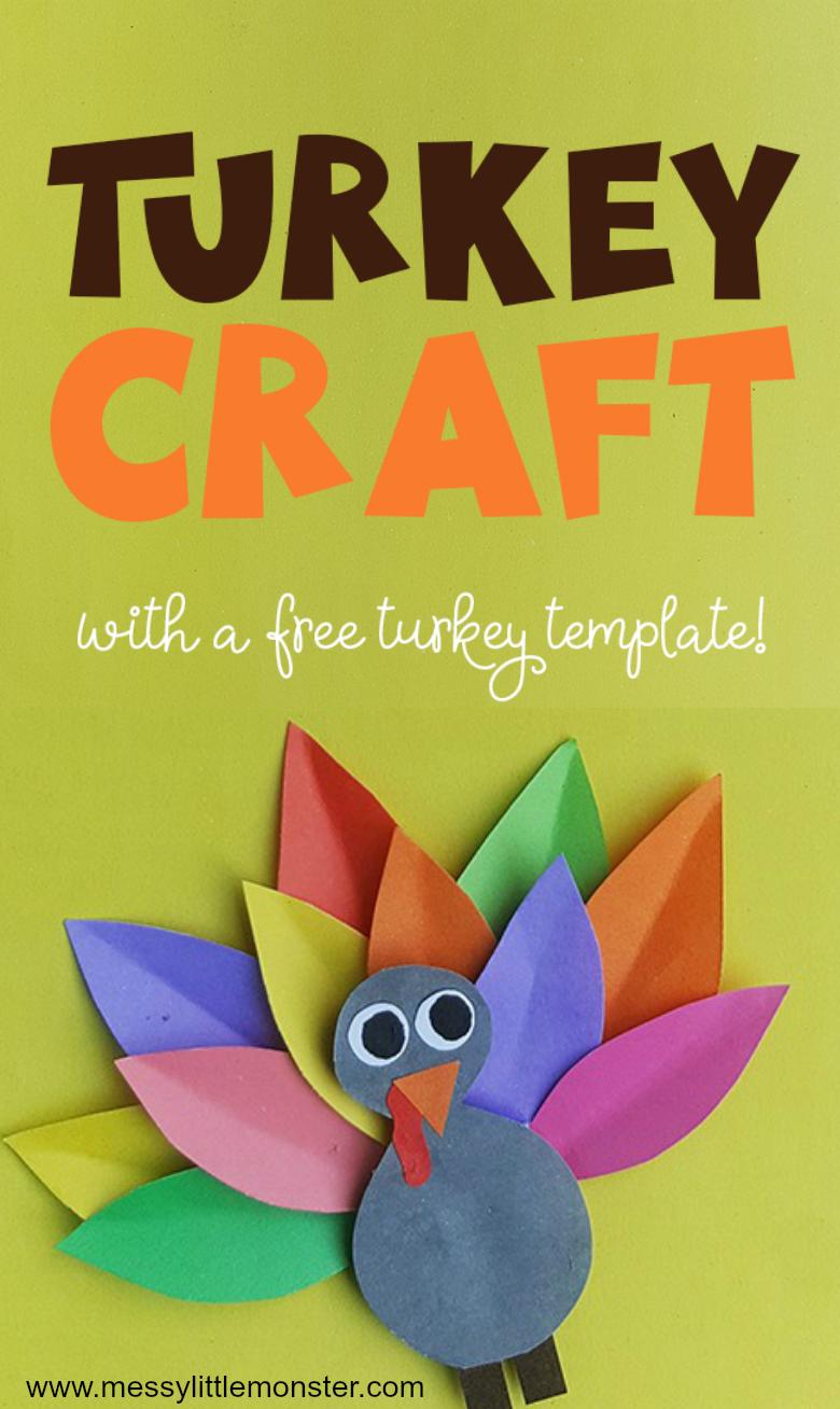 Colourful Paper Turkey Craft (plus turkey template!) An ...