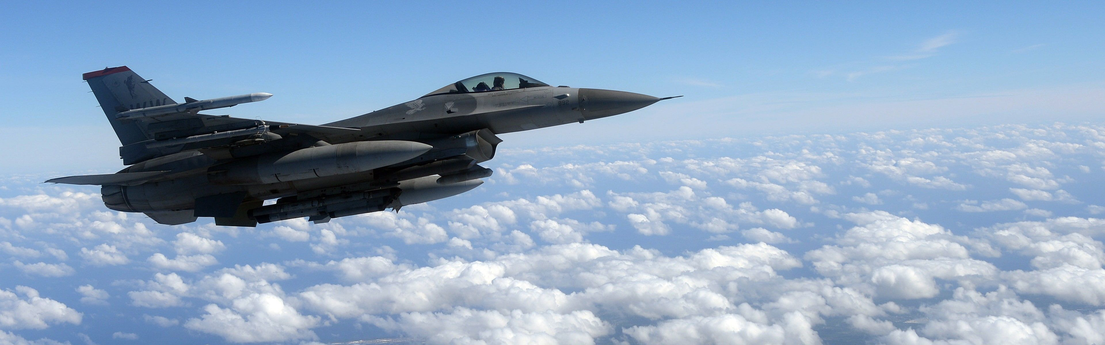 3840x1200 Px Aircraft Clouds Dual Monitors General Dynamics F Military Aircraft Multiple Display Us Air Force 4k Wallpape Hd Wallpaper Fighter Jets Fighter Good aircrafts military hd wallpaper