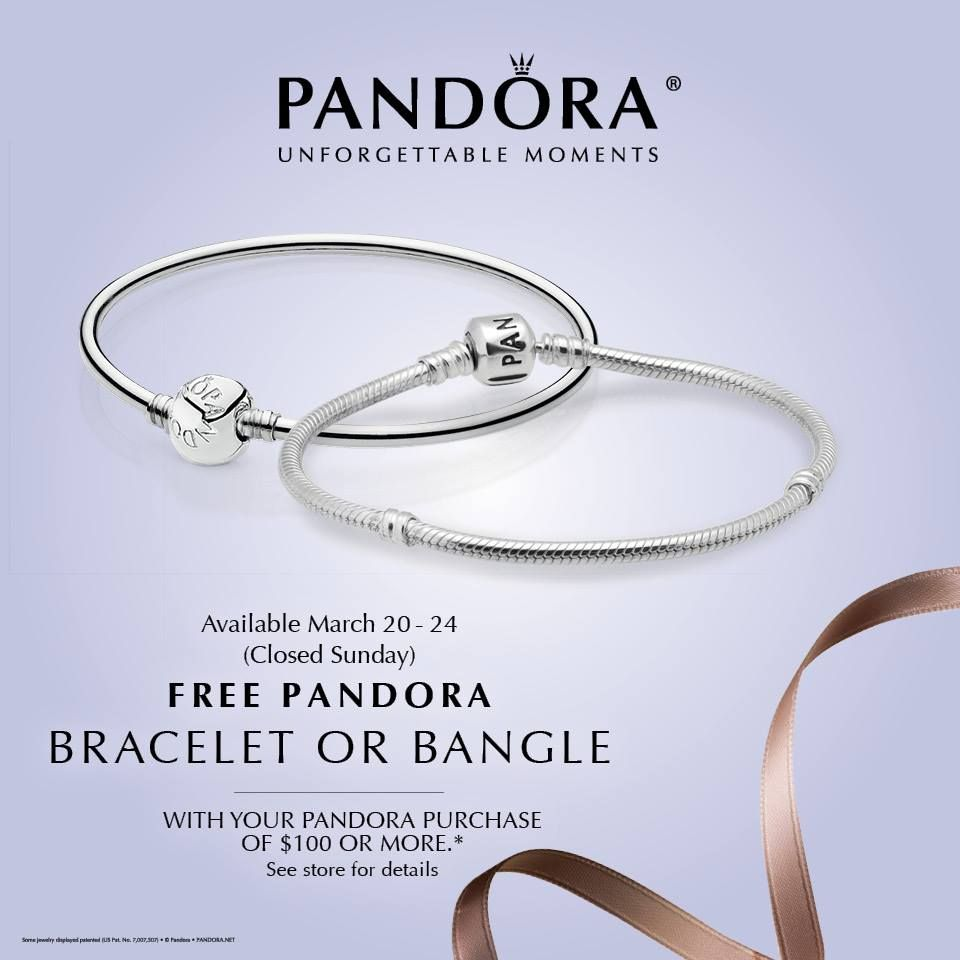 Pandora Bracelet Event March 20 21 22 And 24th 2017