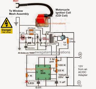 1000v Motor Wiring Diagram Homemade Mosquito Killer Circuit Homemade Circuit