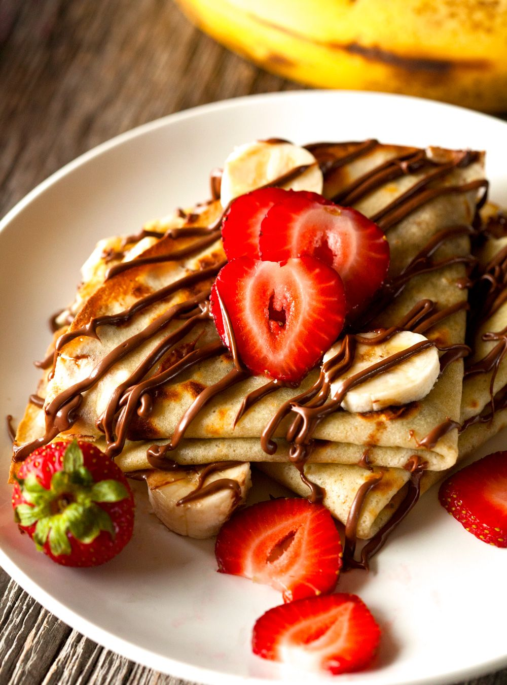 Chocolate Banana Crepes Recipe Sweet Crepes Dessert