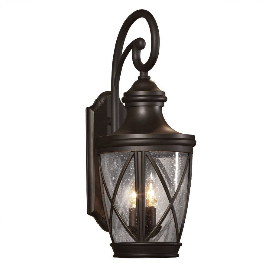 Shop allen roth castine 23 34 in h rubbed bronze outdoor wall pool house lights allen roth castine h rubbed bronze outdoor wall light lowes arubaitofo Choice Image