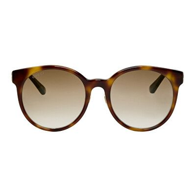 712122cc27ea0 Gucci Designer Tortoiseshell Round Striped Sunglasses
