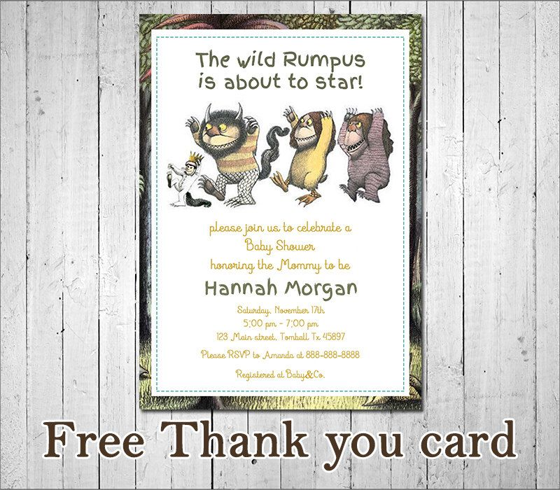 Charming Where The Wild Things Are Birthday Invitations Contemporary ...