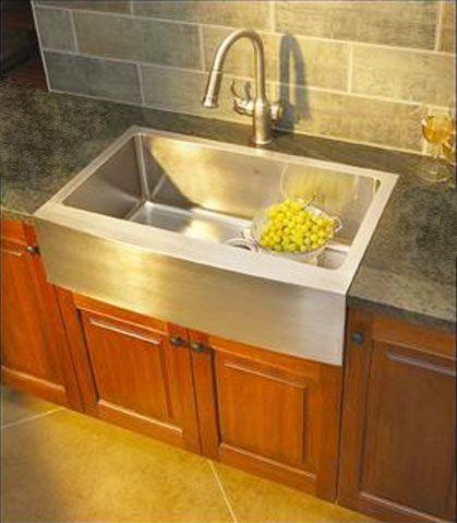 flushmount sink kitchens forum gardenweb - Stainless Steel Farm Sink