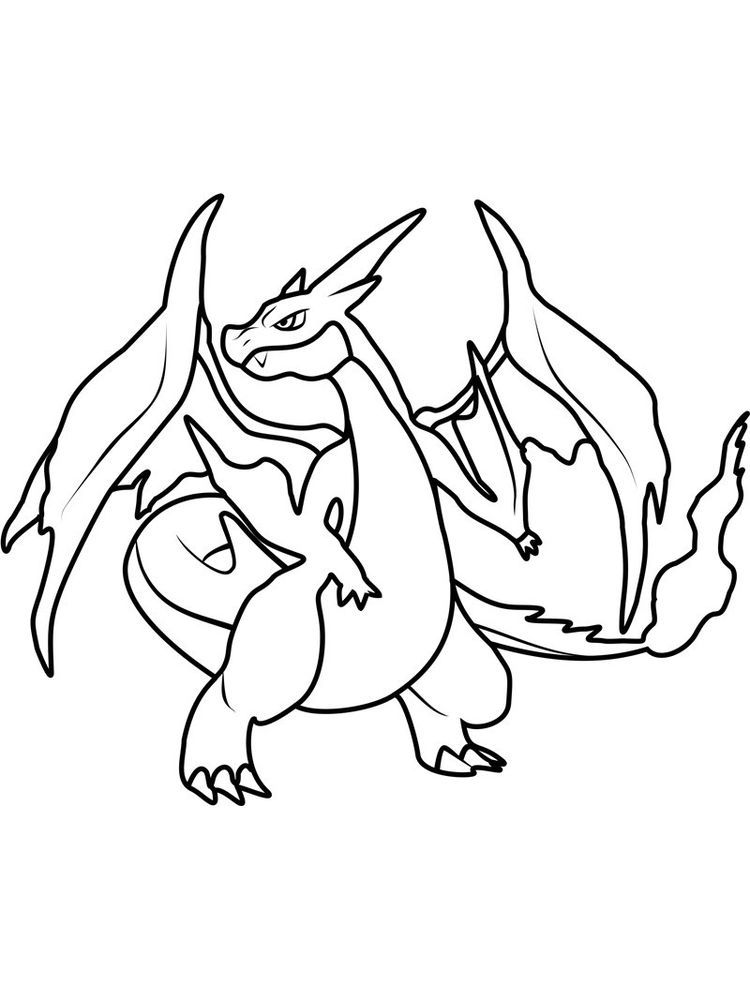 Printable Charizard Coloring Pages 2020