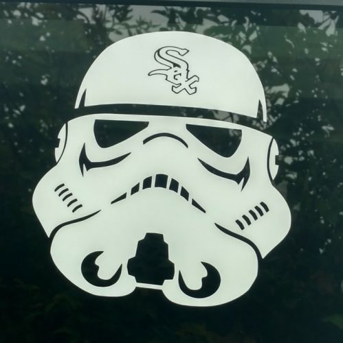 Stormtrooper white sox decalchicago star warsdie cut vinyl stickercustom