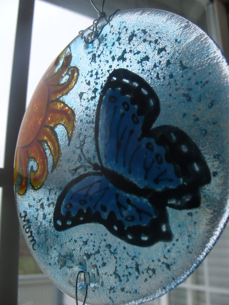 Cremation Keepsake Memorial Ash Infused Art infusionglass.etsy.com