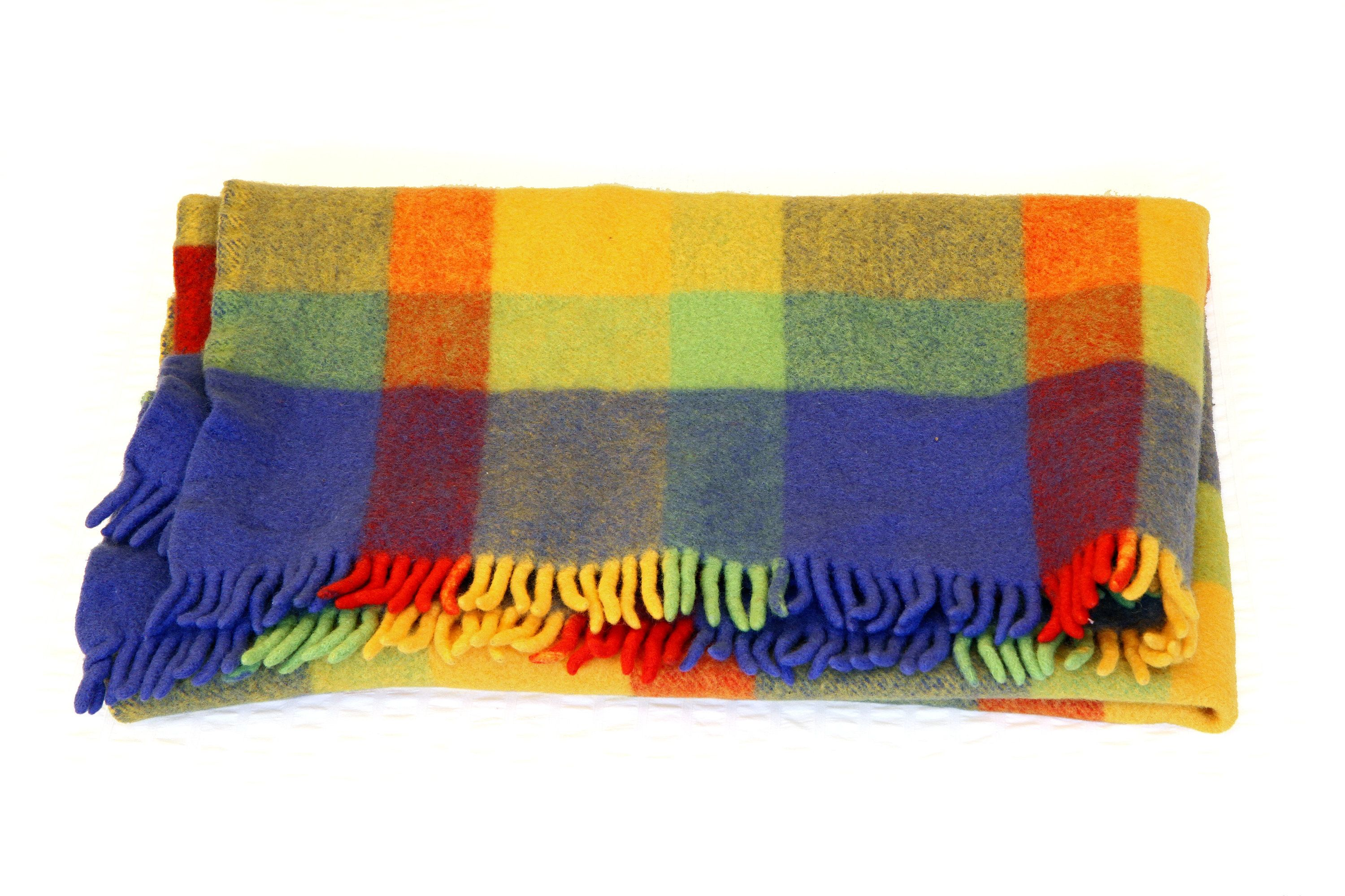 Colorful Throw Blankets Enchanting Wool Throw Blanket Plaid Wool Blanket Rainbow Colors Throw Blanket Design Ideas