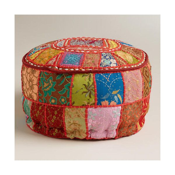 Cost Plus World Market Pink Suti Pouf 40 Liked On Polyvore Gorgeous Pouf Ottoman World Market