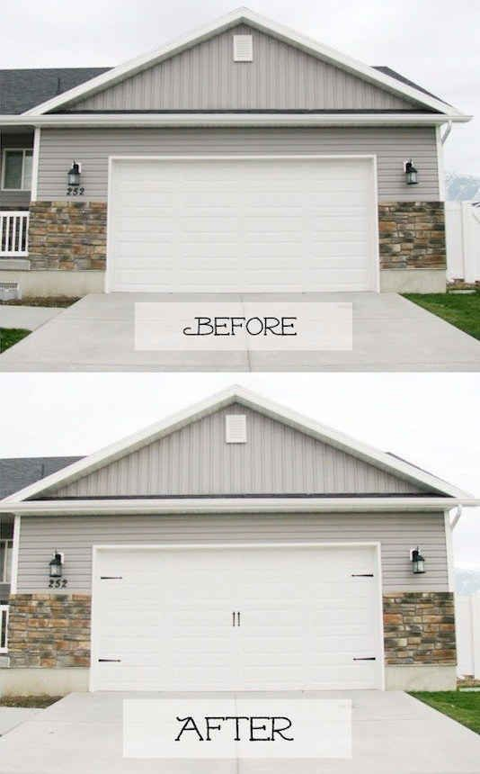 39 budget curb appeal ideas that will totally change your home house or class it up with diy carriage house doors solutioingenieria Images