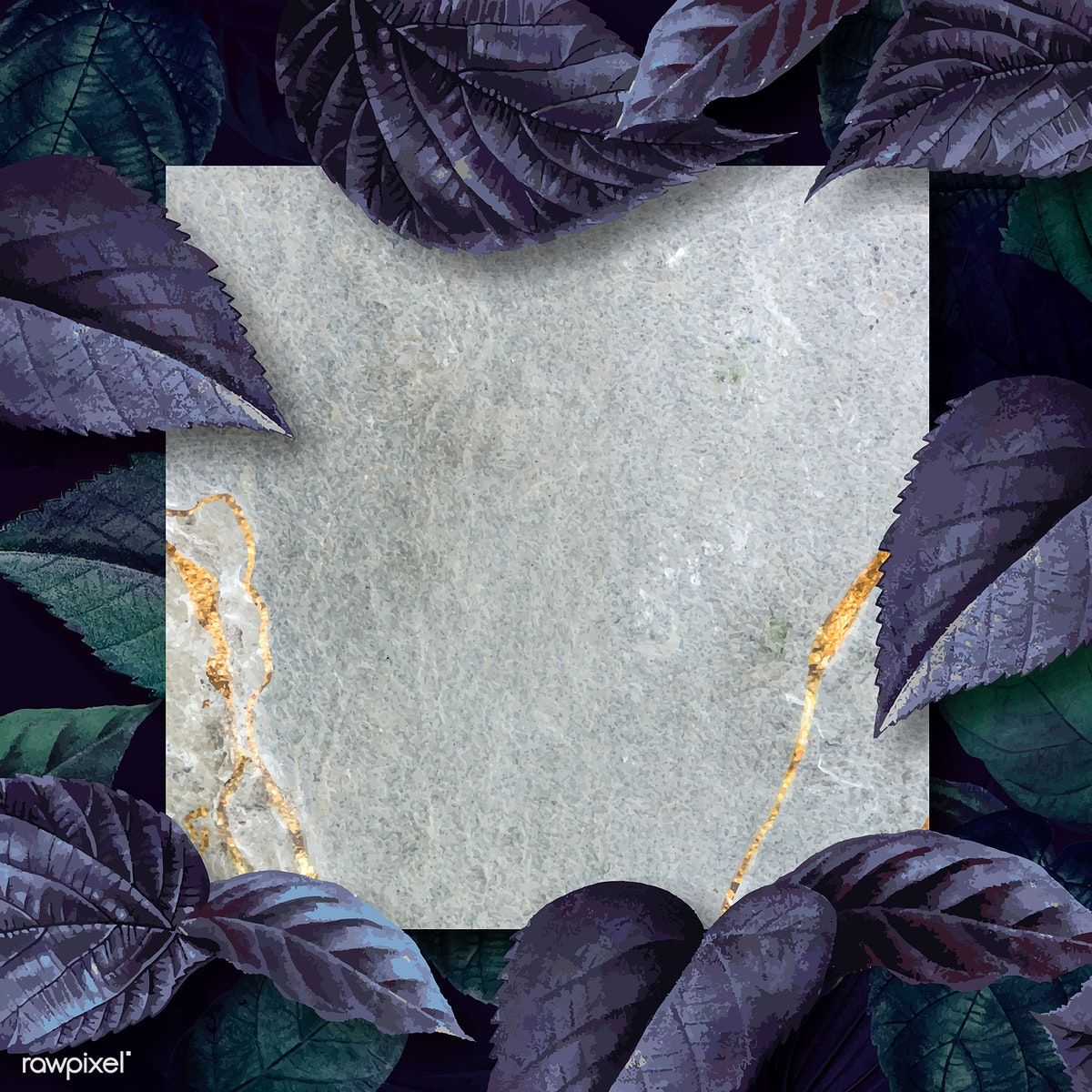 Download Premium Vector Of Marble Texture Frame On A Leafy Background Marble Texture Texture Background Patterns