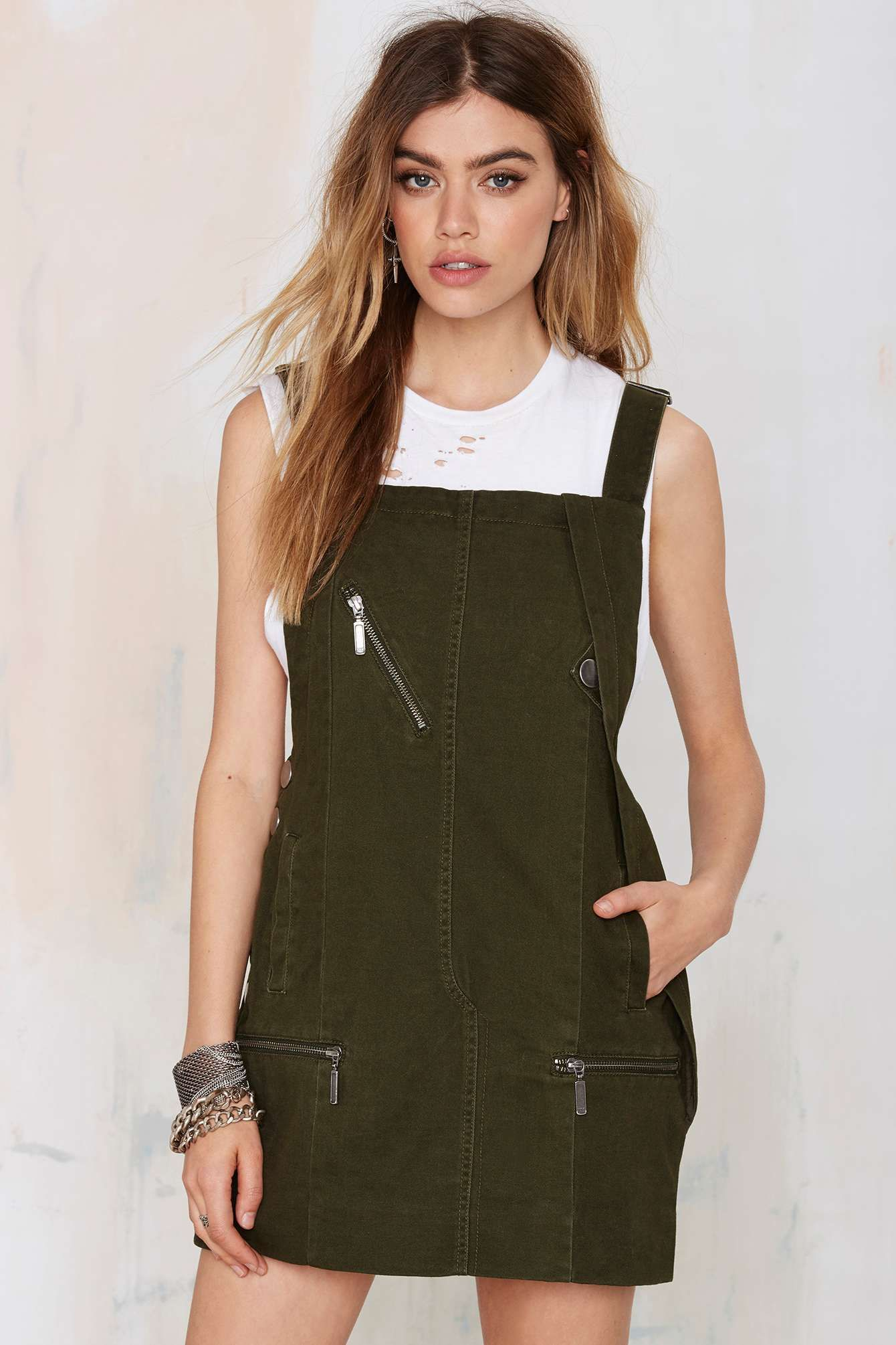 Nasty gal army of one overall dress shop clothes at nasty gal