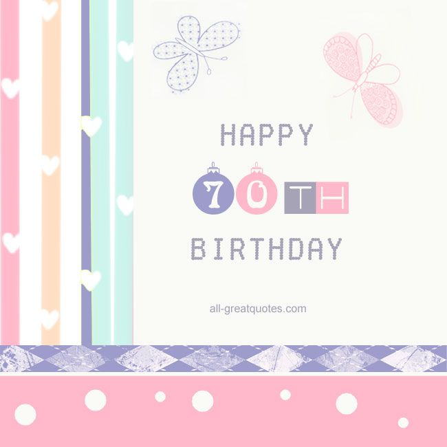 Happy 70th Birthday Free Cards 50th Facebook Family Partner