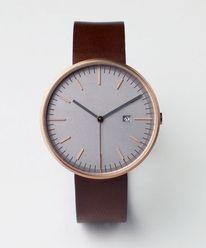 203 SERIES (PVD Rose Gold / Walnut Leather)   Uniform Wares — Designspiration