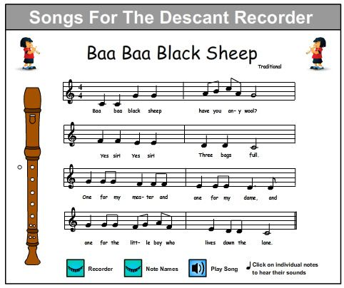 easy recorder songs - Google Search. -Repinned by Totetude.com ...