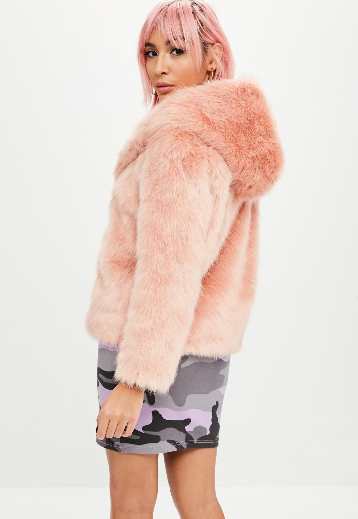 07e2fa3205a6 Missguided - Barbie x Missguided Pink Faux Fur Coat | Missguided ...