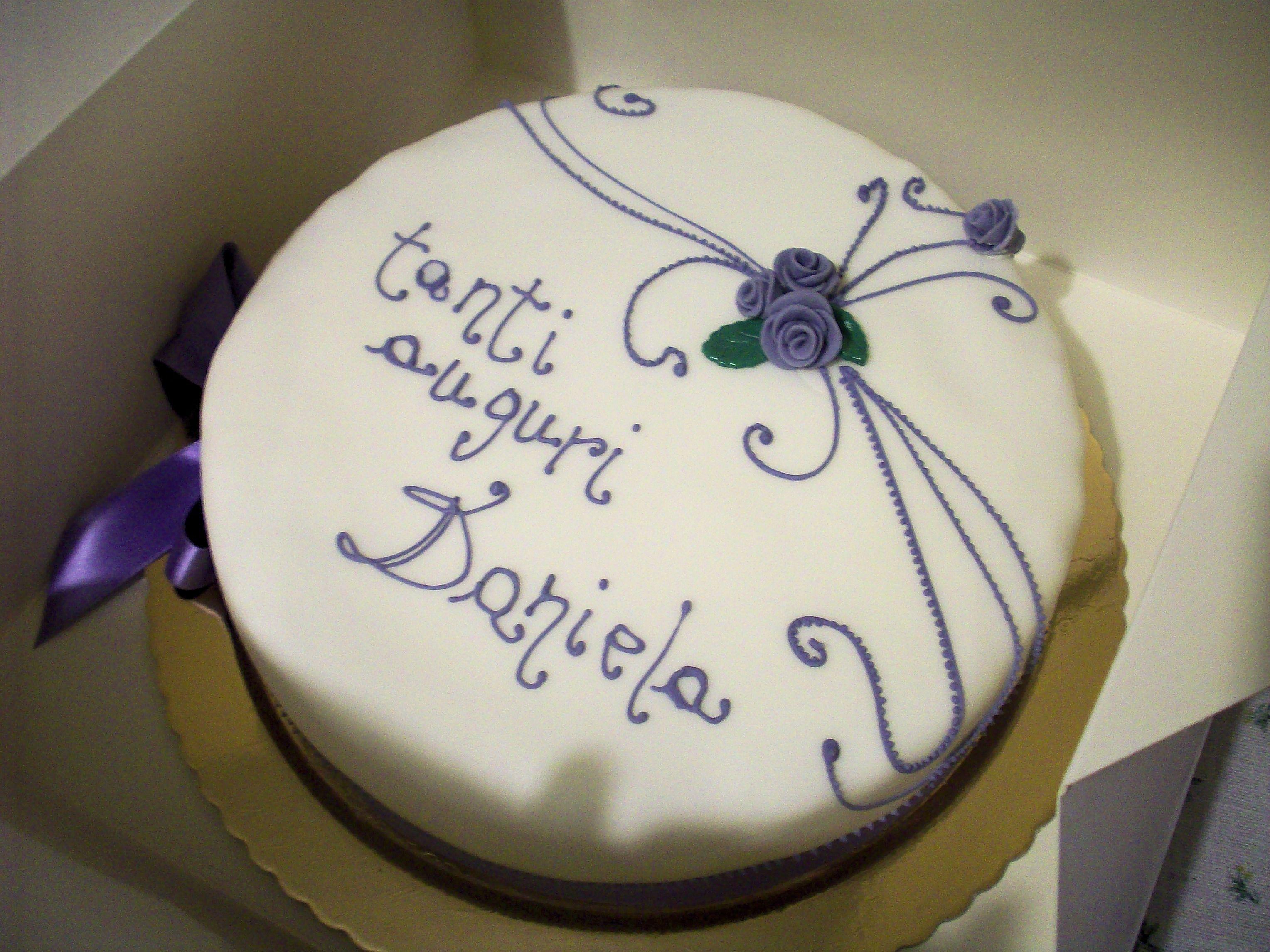 Happy Birthday Daniela Birthday Cake Auguri Daniela Buon