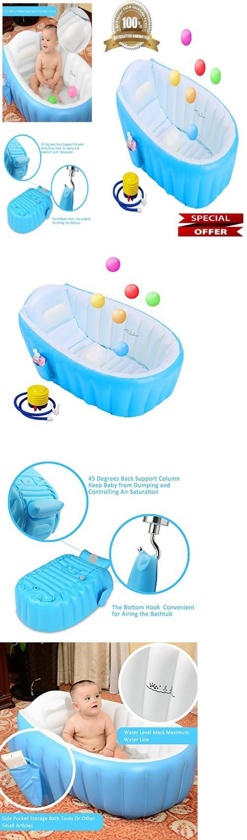 Toddler Enjoy Taking a Bath Safe Inflatable Bathtub for Infant Anti ...