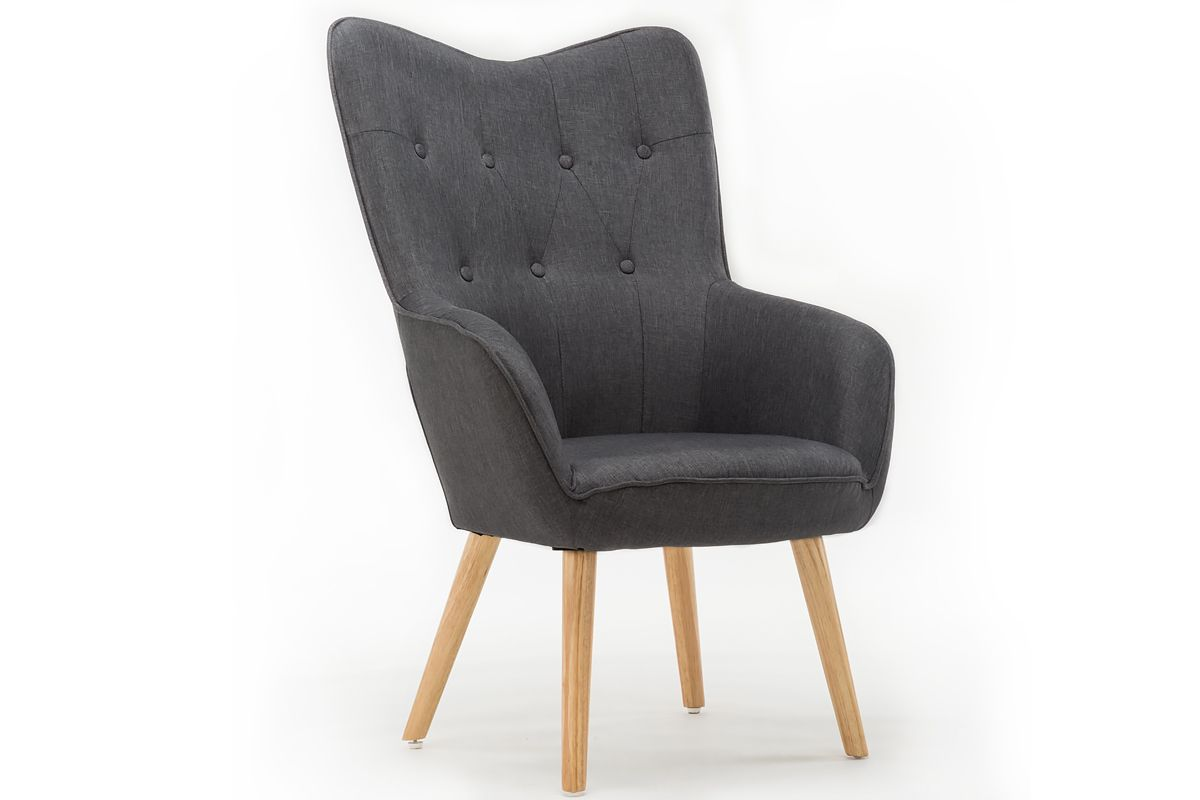 Best Dark Grey Modern Wingback Occasional Accent Bedroom Arm 400 x 300