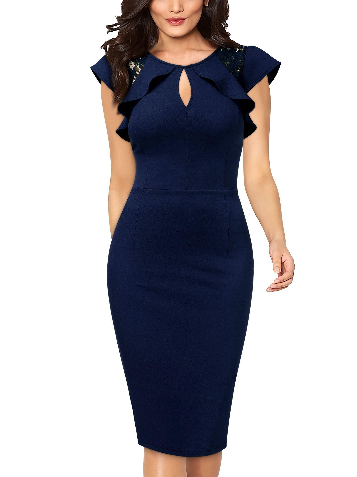 Free 2 Day Shipping Buy Women S Formal Work Pencil Dresses Cocktail Party Bodycon Dresses Navy Blue L Bodycon Dress Parties Bodycon Dress Cocktail Dress Party [ 2000 x 1500 Pixel ]