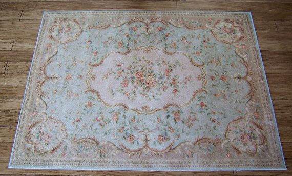 Aubusson Dolls House Rug Pe Roses 2