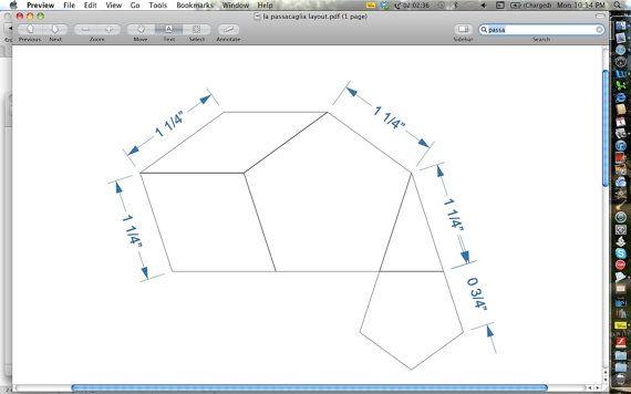 La Passacaglia - 1/4 inch seam SOLID style (5 pieces) - Acrylic ...