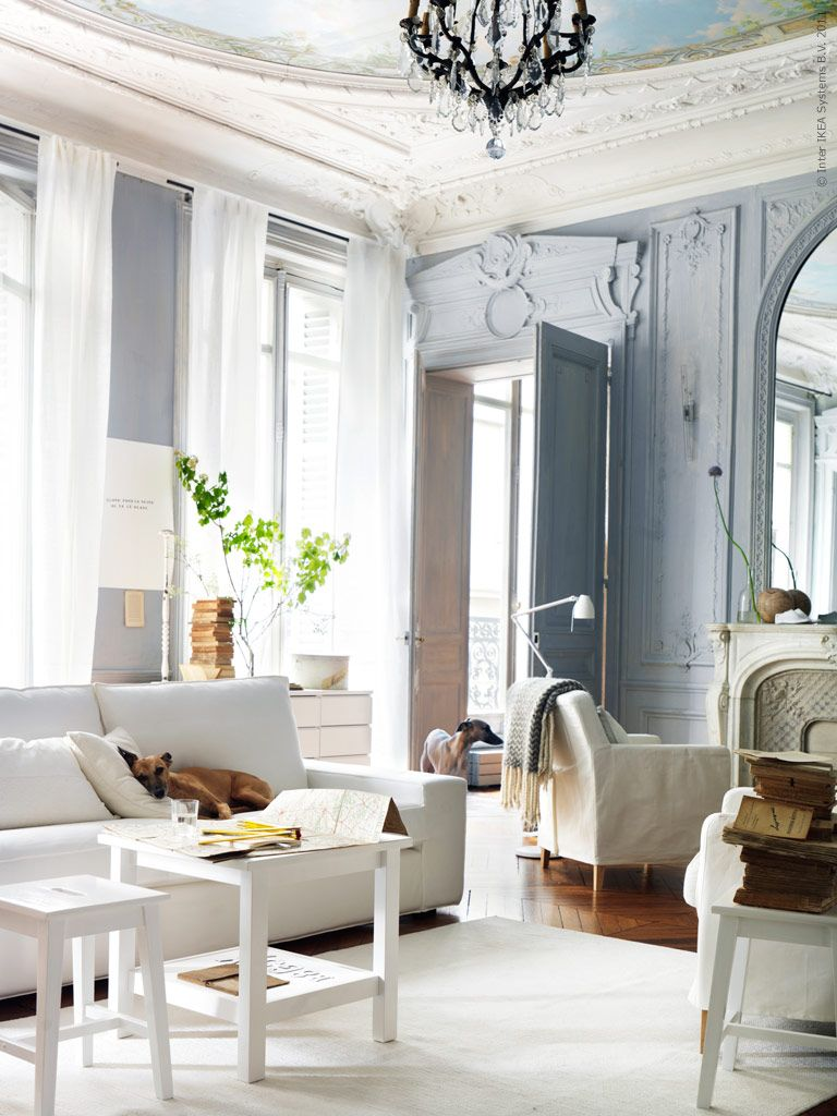 Love the combination of French Millwork with modern furniture. | For ...