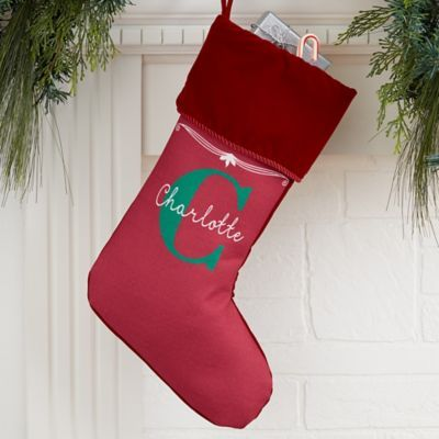 My Name  Monogram Personalized Christmas Stocking in 2018