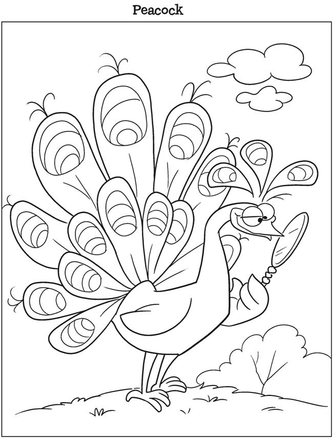 Kleurplaat Pauw Welcome To Dover Publications Adult Coloring Pages