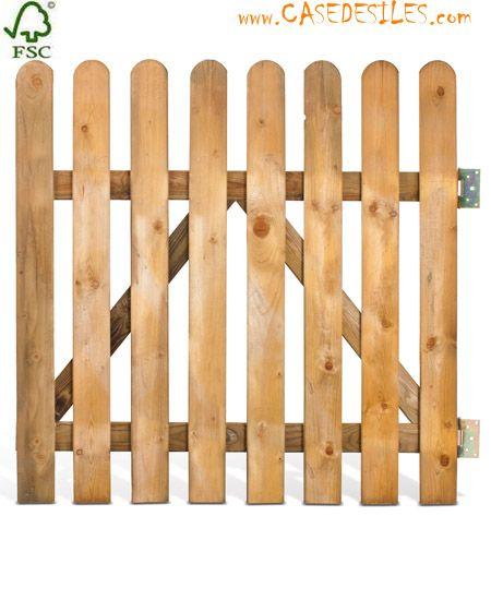 barriere bois portillon bois cloture bois