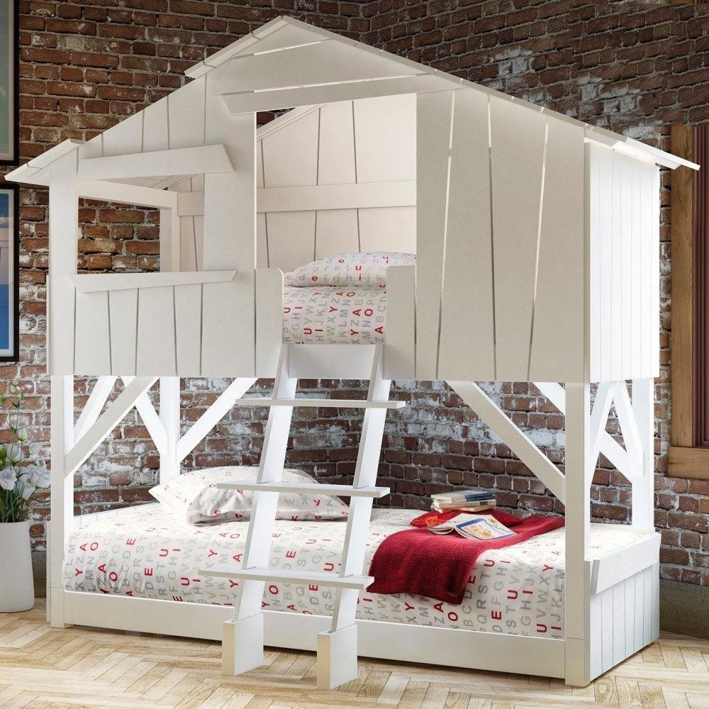 Treehouse loft bed with slide  This awesome Childrenus Tree house Bunk bed from Mathy By Bols is