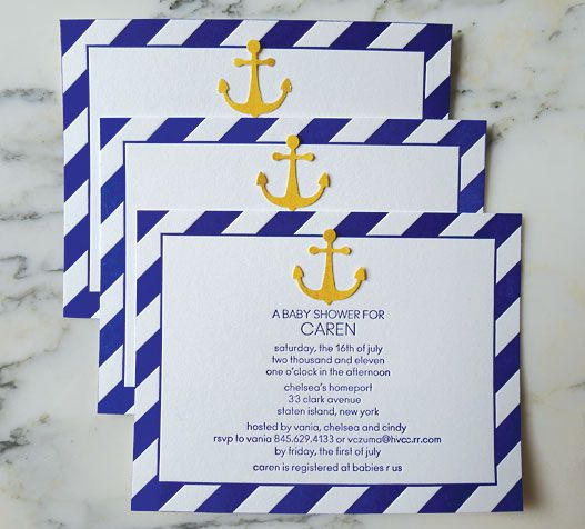 Nautical Themed Baby Shower Invitations
