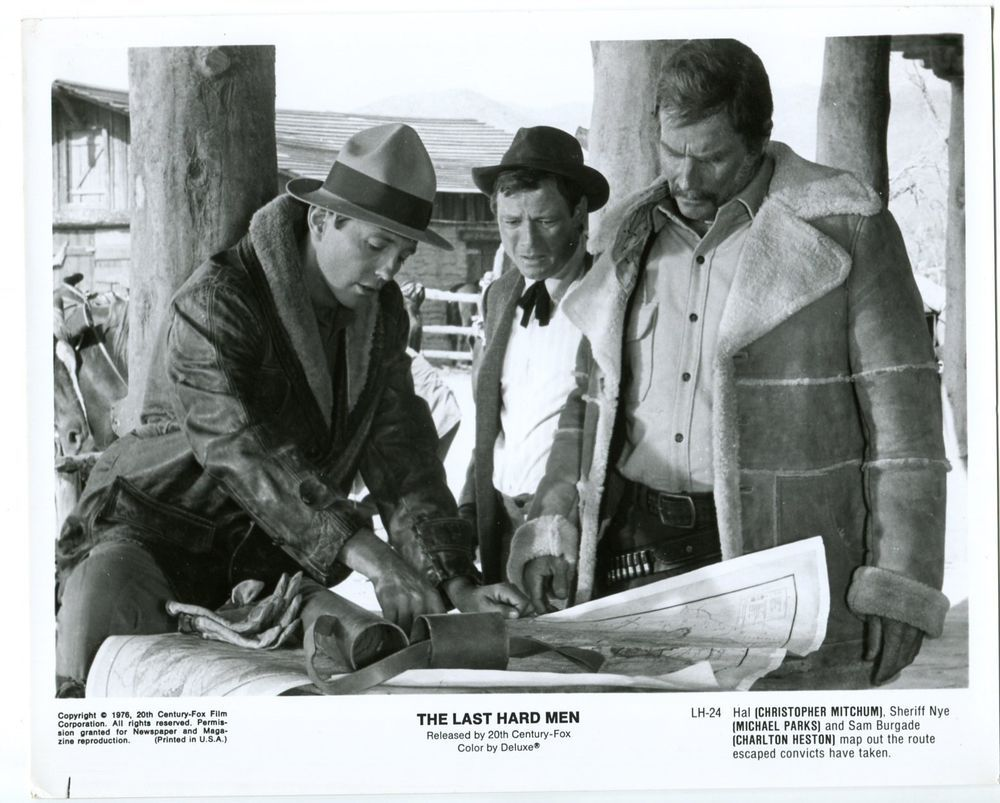 Chris Mitchum Michael Parks And Charlton Heston In The 1976
