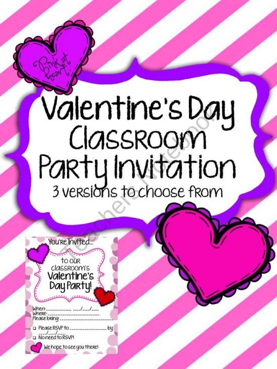 FREE Valentines Day - Classroom Party Invitation product from Pink - valentines day invitations