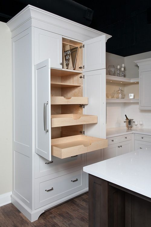 Awesome Pantry Cabinets with Pull Out Drawers