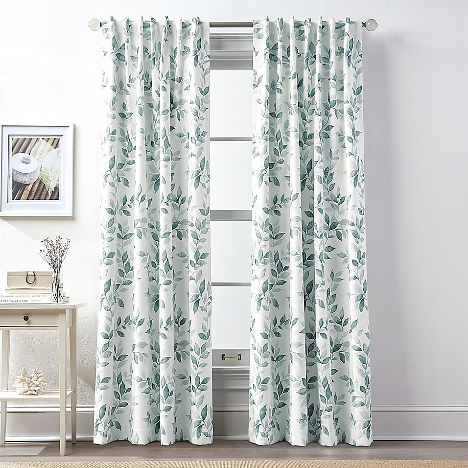 Lanai 108 Rod Pocket Back Tab 100 Blackout Window Curtain Panel In Teal Panel Curtains Curtains Drapes Blinds