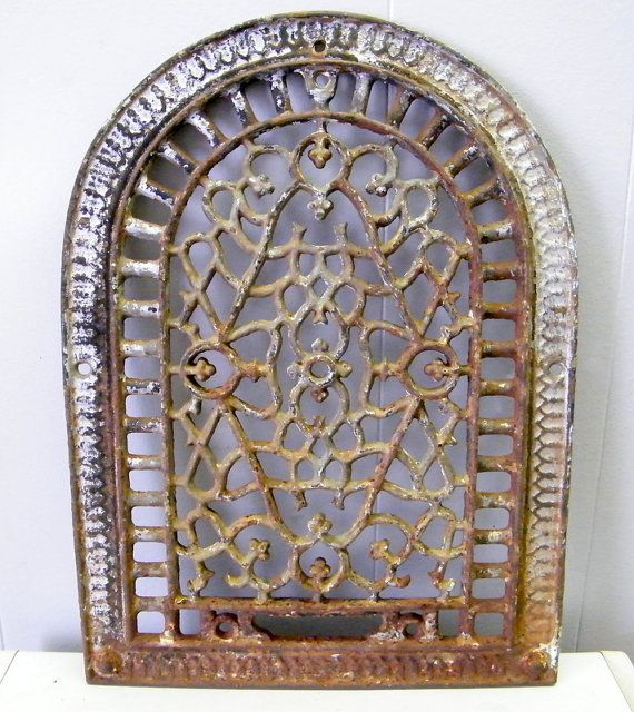 Old Cast Iron Art Deco Arch Top Heat Grate By Beneaththerust Iron Art Cast Iron Art Deco