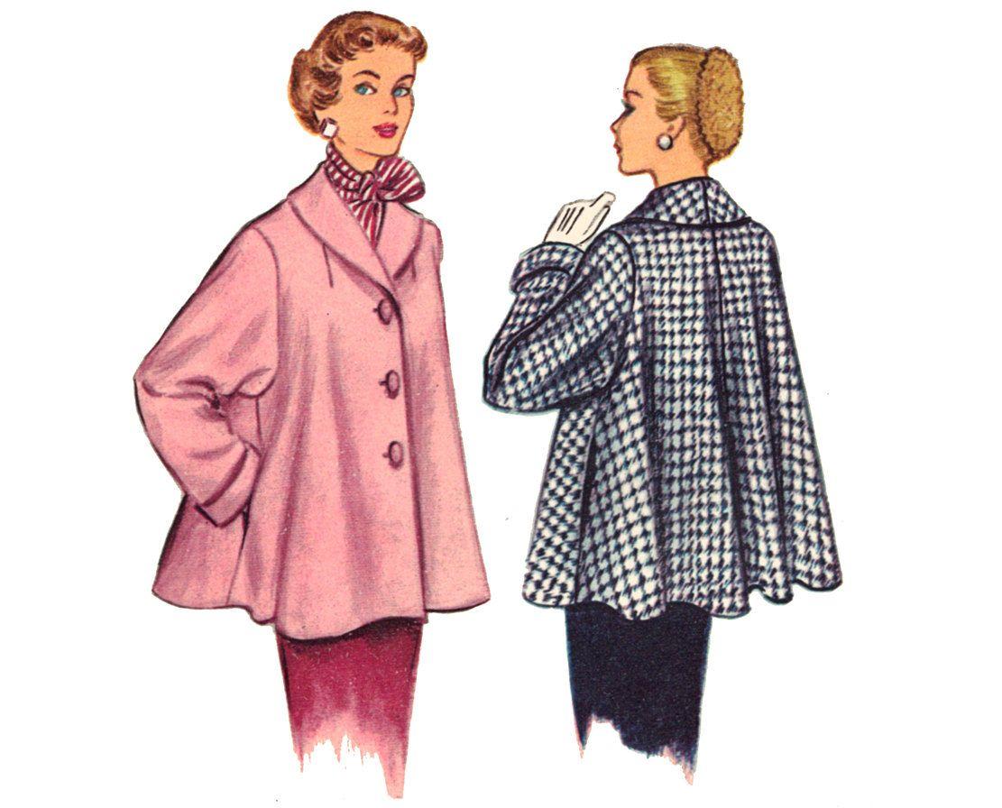 Modern Vintage Coat Nähmuster Photo - Decke Stricken Muster ...