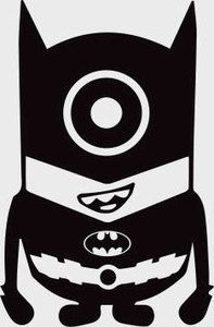batman minion minions vinyl decal sticker silhouette. Black Bedroom Furniture Sets. Home Design Ideas